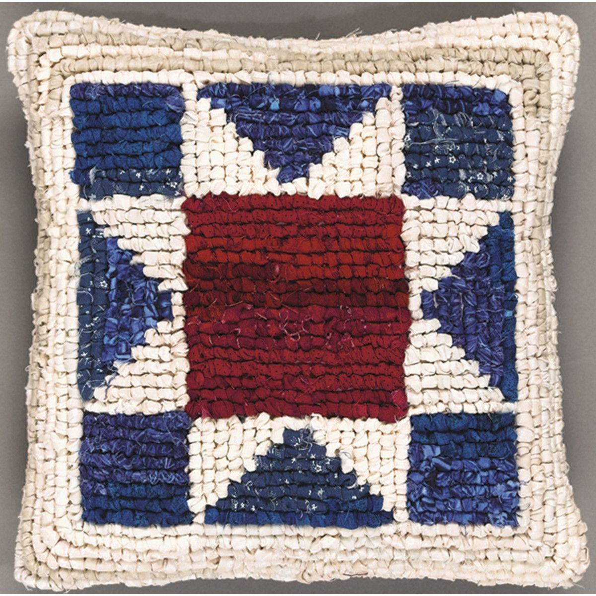 Quilt Mates Locker Hook Pillow Kit 11 X11 American Star