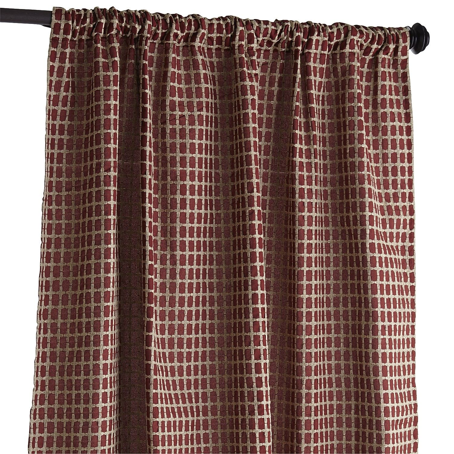 Textured Waffle Curtain - Red - Polyester | *Window Treatments ...