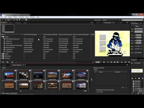 Adobe Encore CS6 Tutorial | Transcode Information | InfiniteSkills - YouTube