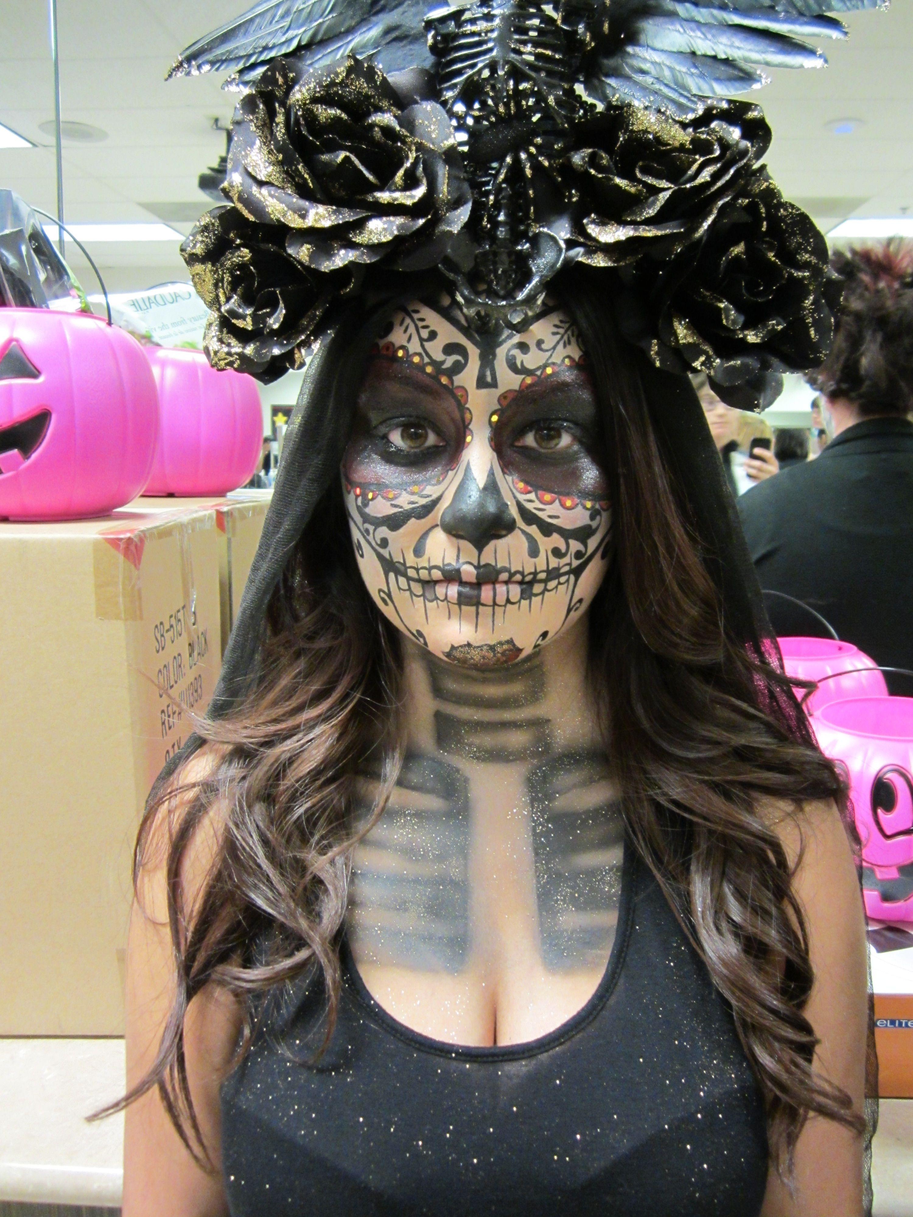 Bellus Academy students doing Día de Muertos #makeup #halloween #dayofthedead