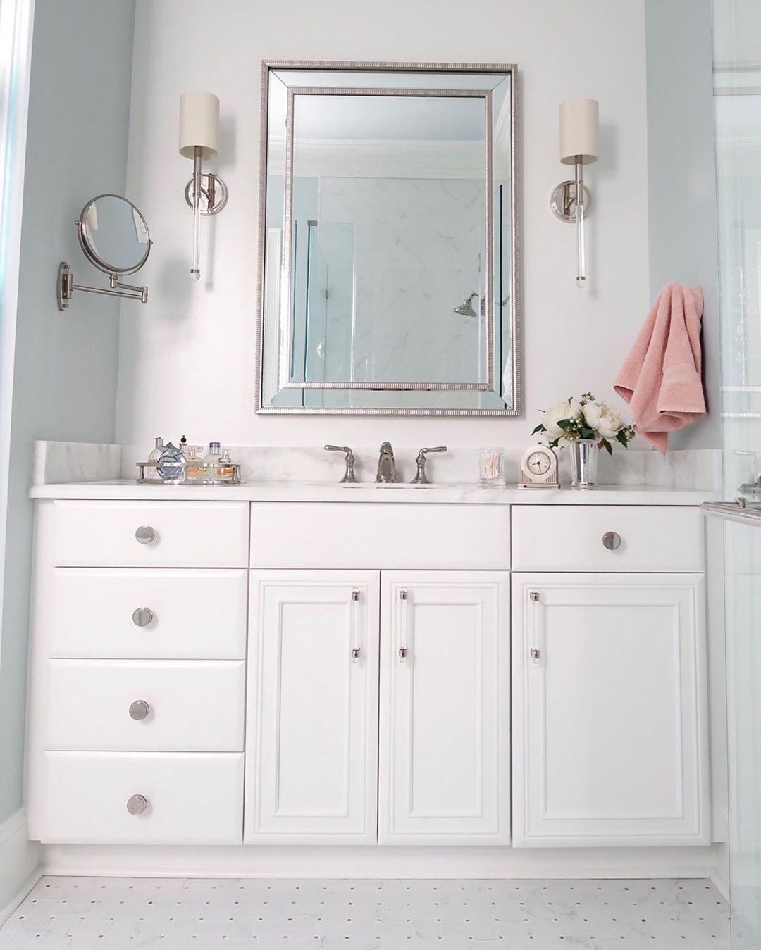 Bathroom Vanity Painted Benjamin Moore Decorator S White Polished