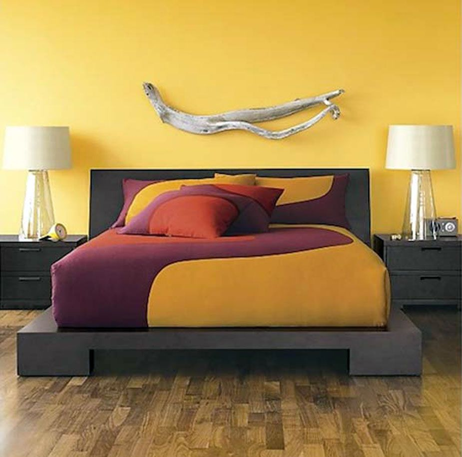 Bedroom Decorating Ideas Purple And Yellow | Bedrooms, Dark bedroom ...