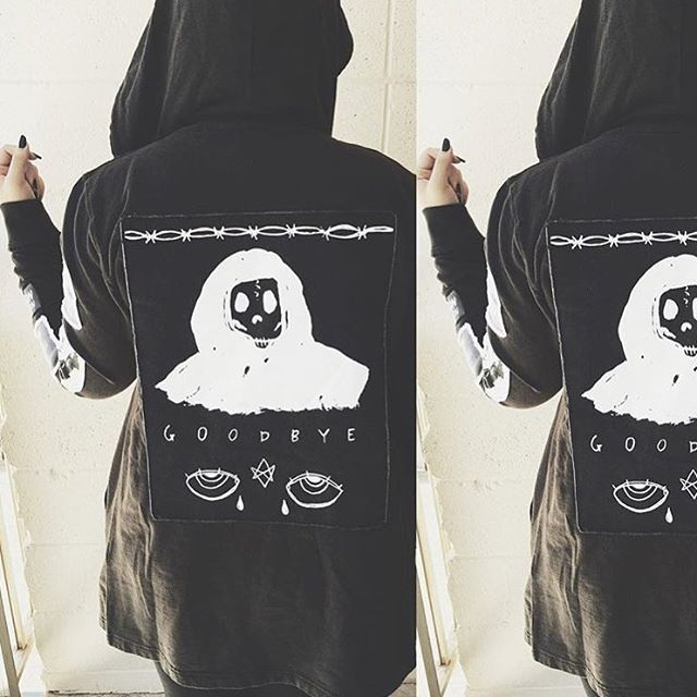 Back patch design created by @anastasia.tasou on our Trust Hoodie. Thanks for the picture @pale_female. WWW.DROPDEAD.CO #dropdead #dds15