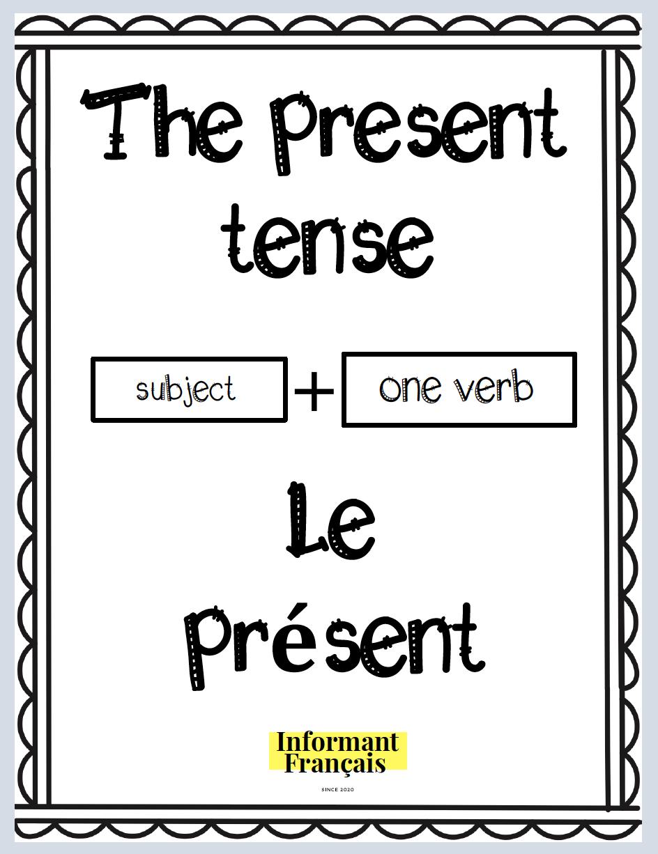 The Present Tense Le Present Education Quotes Inspirational Present Tense Verbs Education Quotes [ 1226 x 944 Pixel ]
