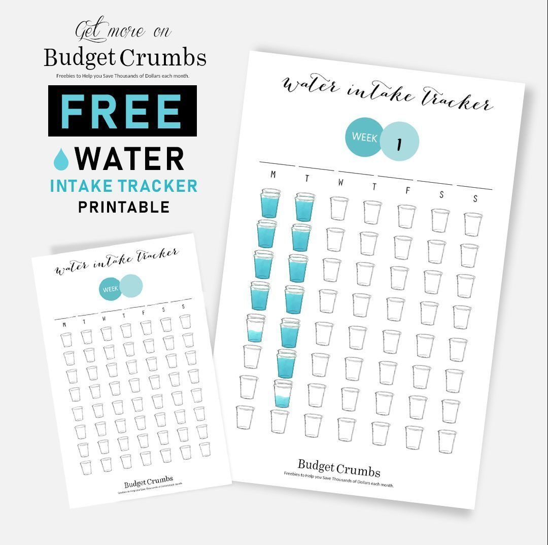 Daily Water Tracker Free Printable Wattertracker
