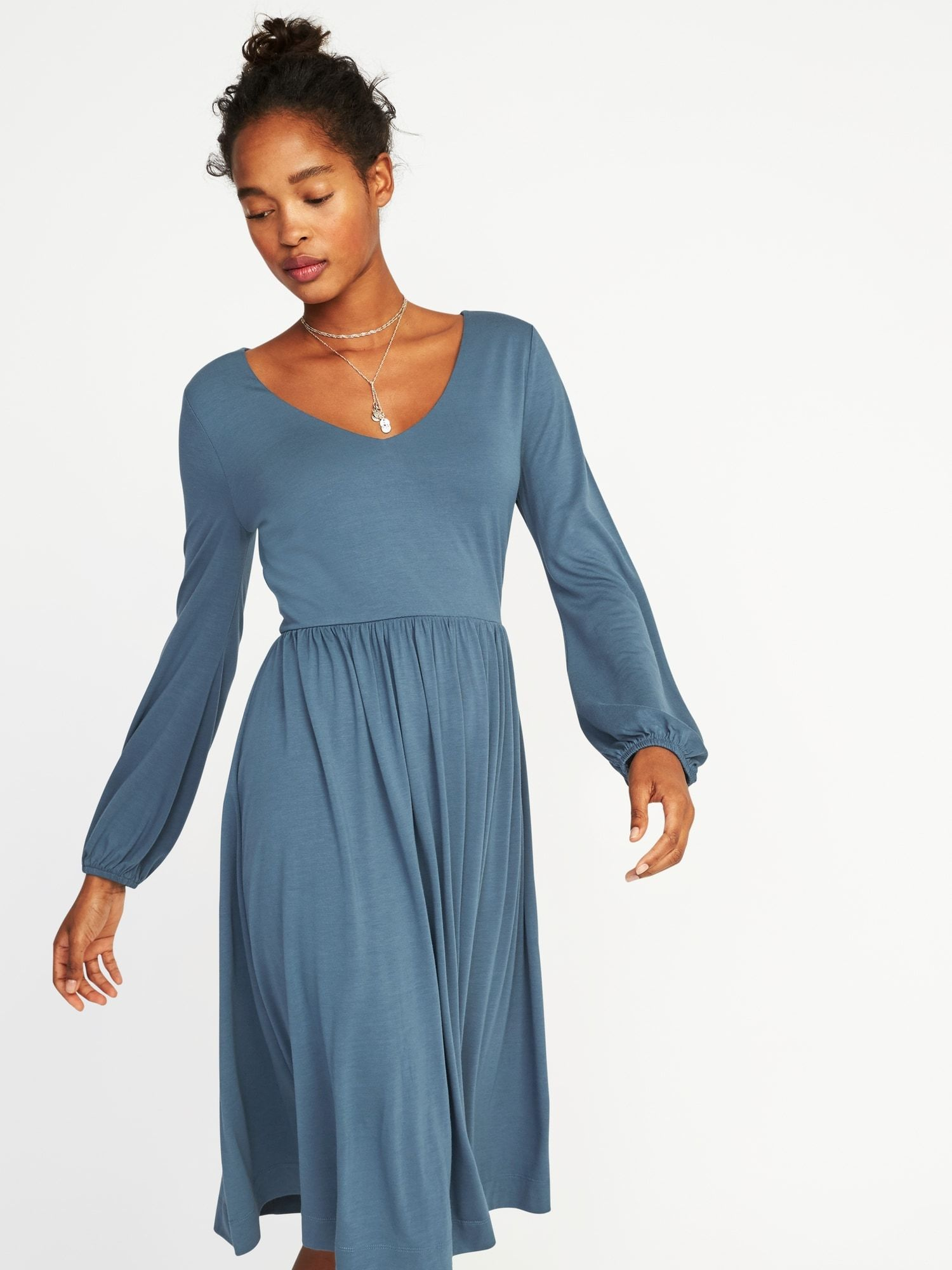 814b0bc01e03d Fit & Flare Jersey-Knit Dress for Women |old-navy | January Clothes ...