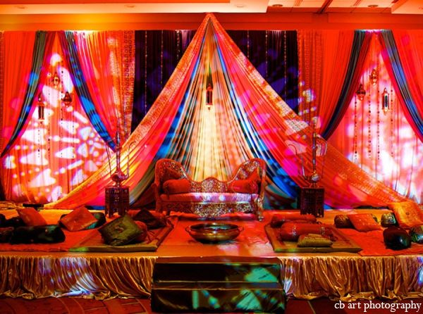 colorful indian wedding by cb art photography cinema baltimore maryland - Indian Wedding Decorations