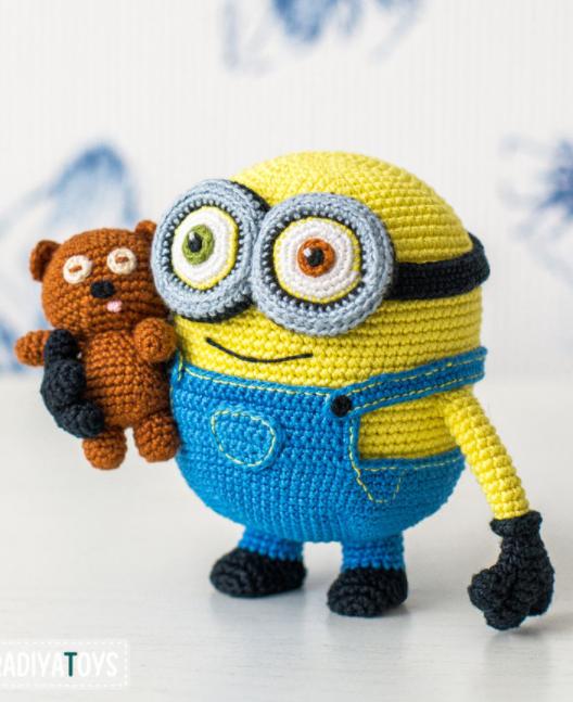 Photo of Amigurumi: Crochet Minion Bob und Teddy von Minions – Häkelanleitung über Makerist.de Ami …