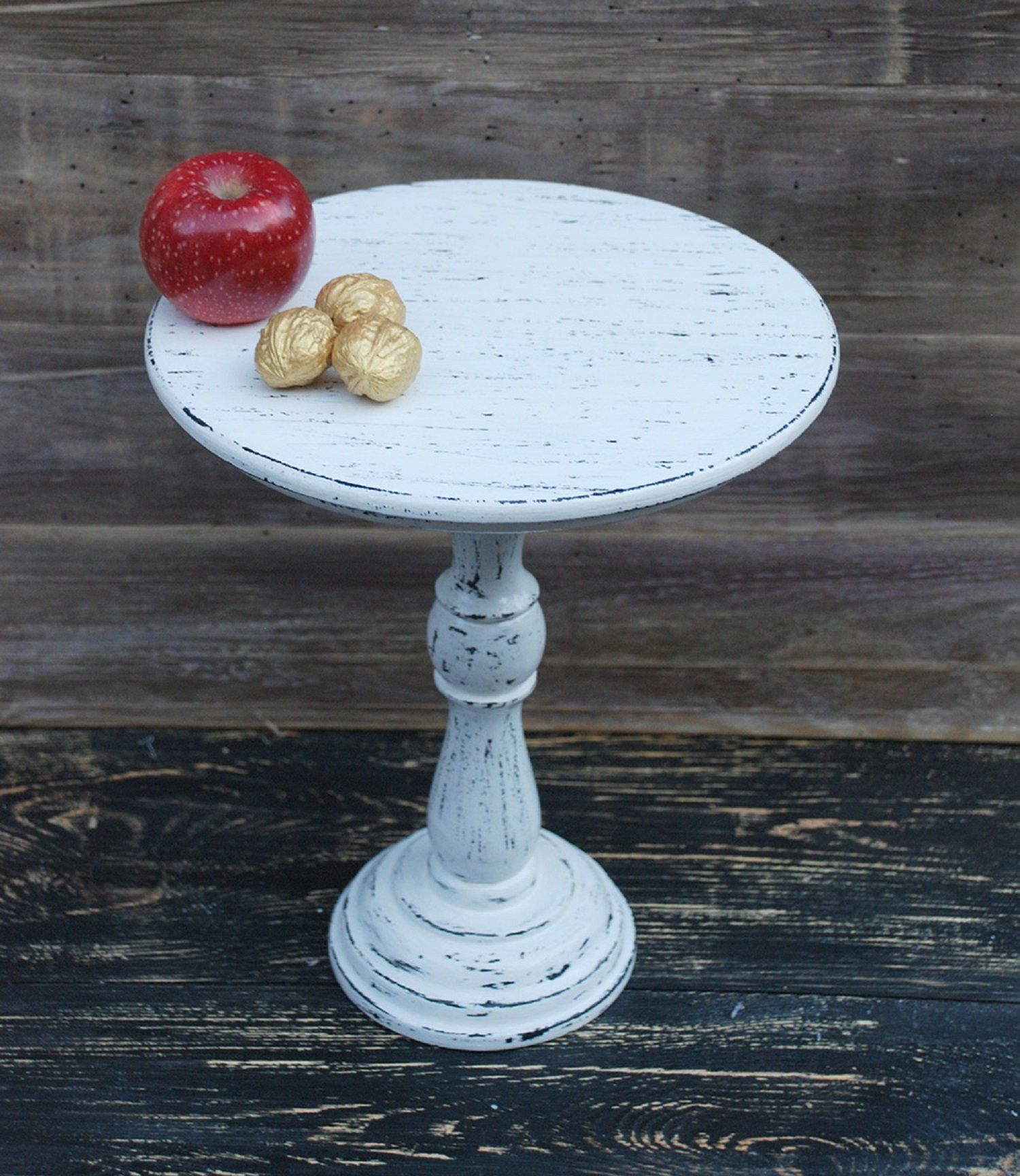 Ready To Ship 12 Wooden Cake Stand White Cake Etsy Wooden Cake Stands Wood Cake Stand White Cake Pedestal