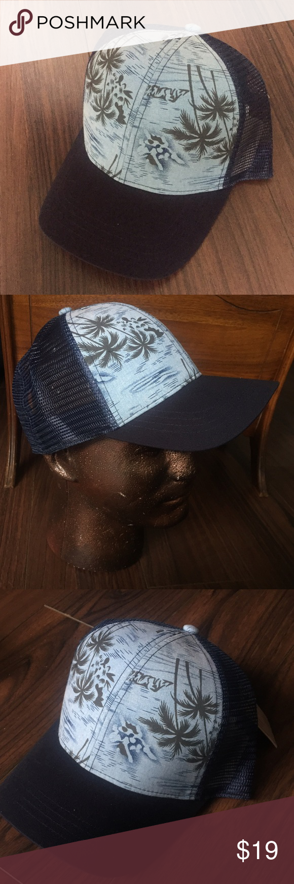 2df282bb161 Hawian Trucker Hat Awesome Hawaiian Trucker Hat - fully adjustable by  Beautiful Giant. Not PacSun