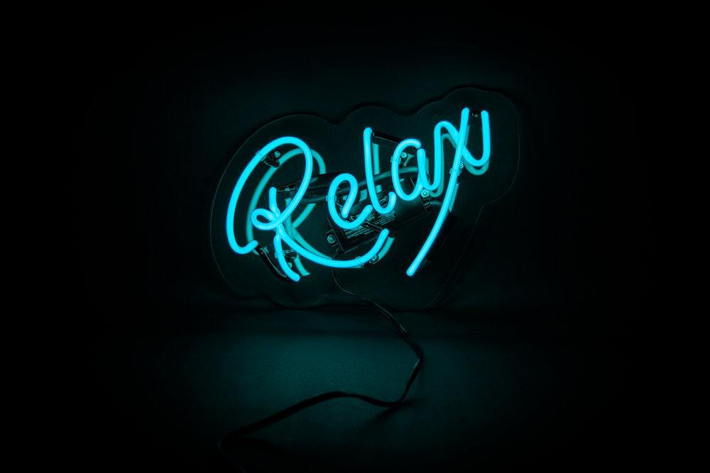 Relax Neon Sign Neon Signs Neon Quotes Neon Words