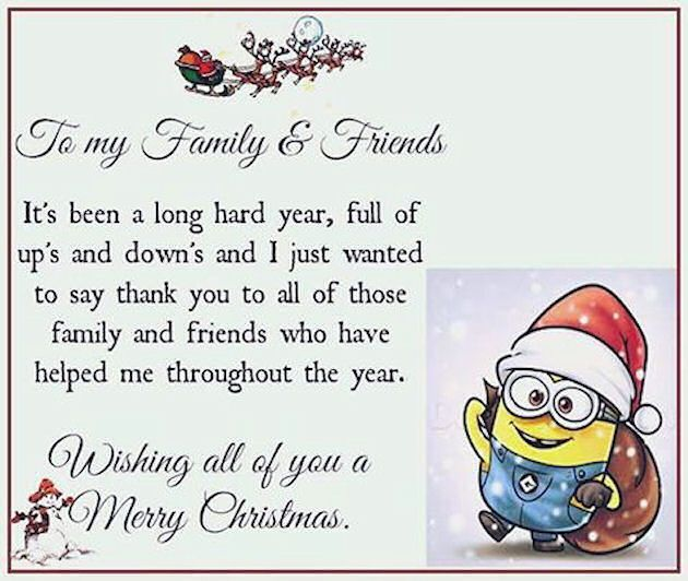 To My Facebook Friends Merry Christmas Thank You  Christmas Decor