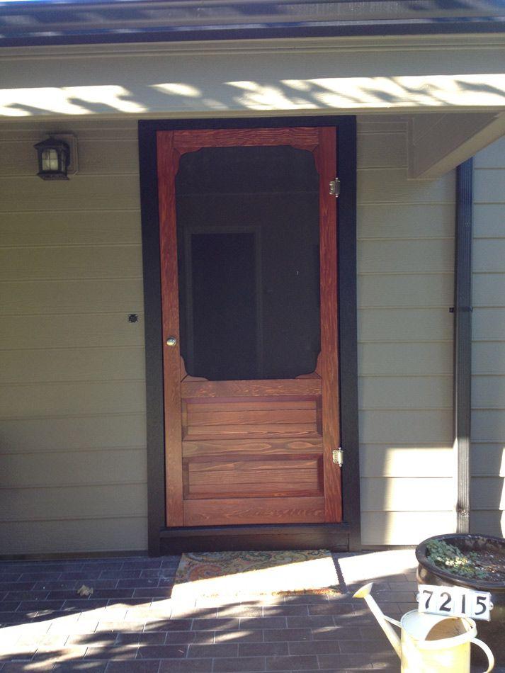Coppa Woodworking Wood Screen Doors And Wood Storm Doors   Customer Photo  Gallery