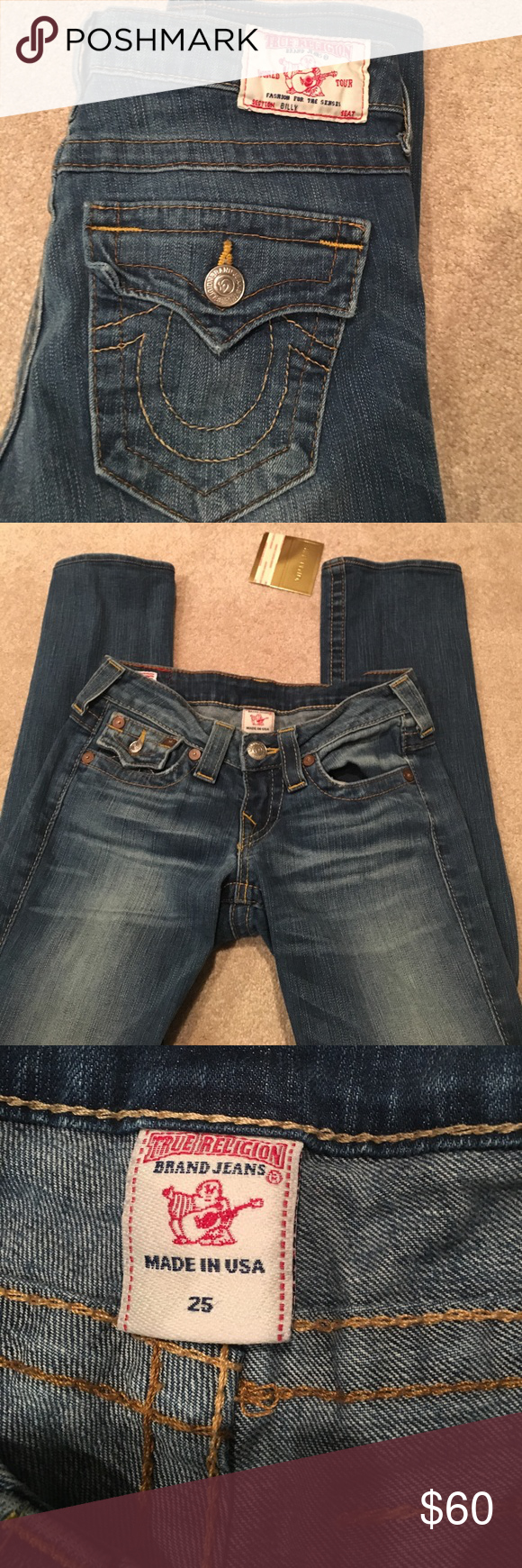 True religion jeans True religion jeans that unfortunately don't fit me anymore! Authentic. Lightwash, super cute and in great condition :) let me know if you're interested. Willing to negotiate! True Religion Jeans Straight Leg