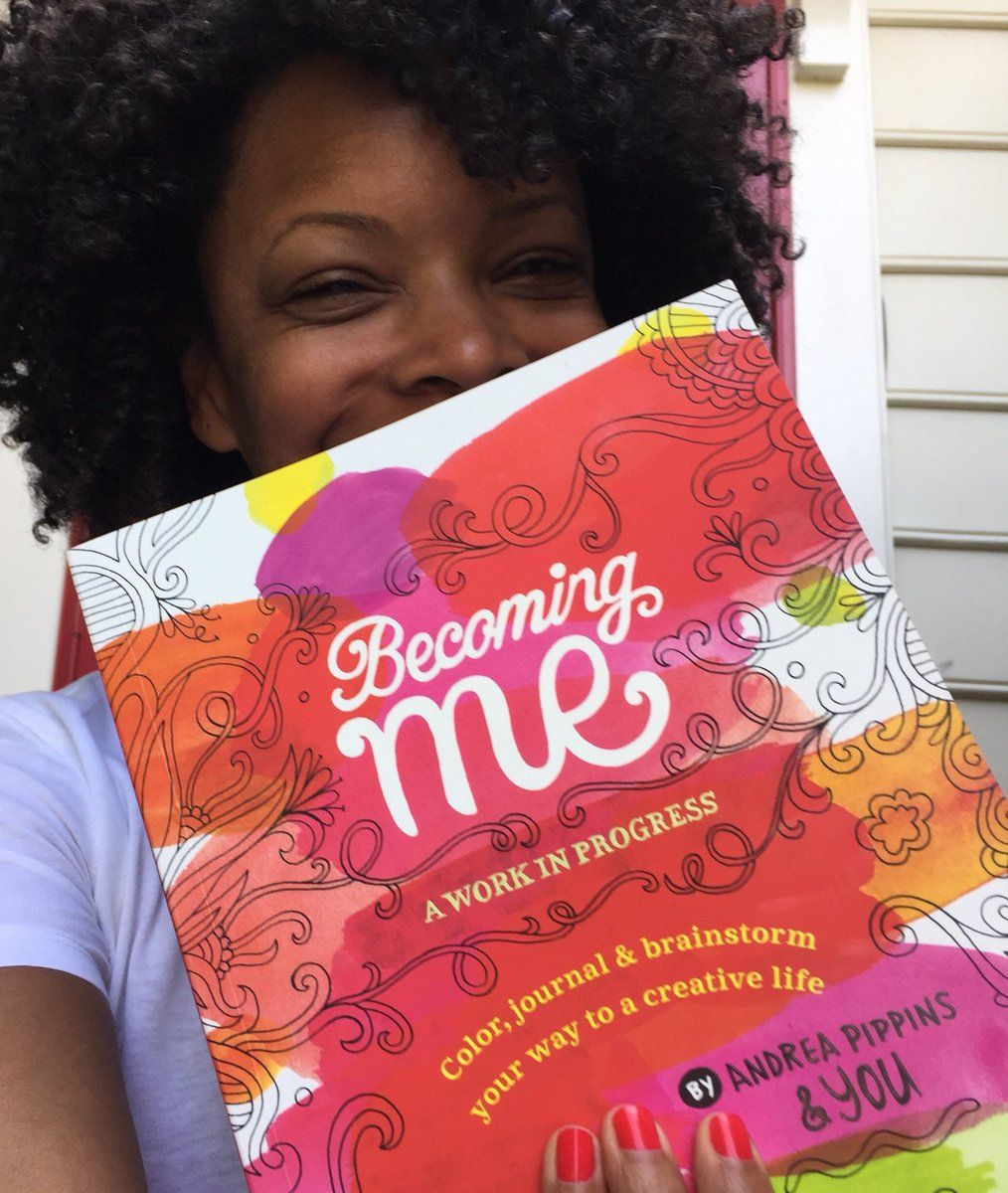 """Andrea Pippins on Twitter: """"IT'S HERE! My 1st copy of Becoming Me,176pages of prompts for exploring creativity. Available for preorder on Amazon https://t.co/iHJDBxWDq1"""""""