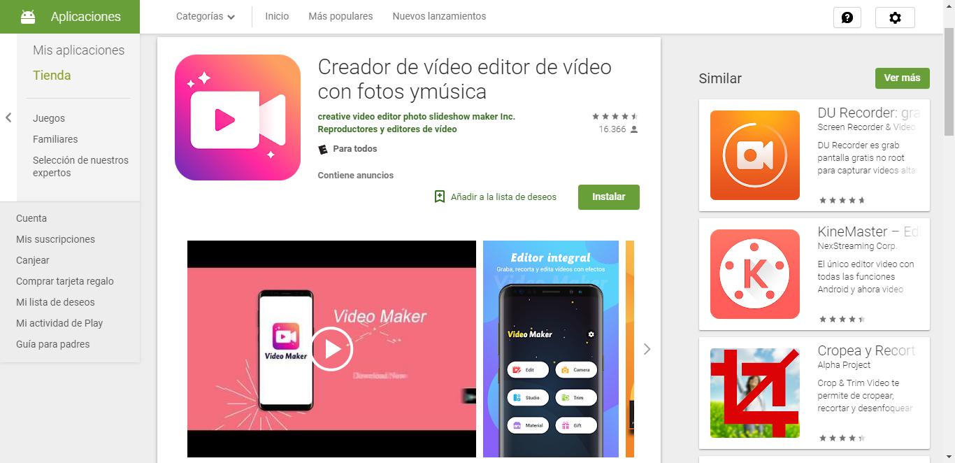 Creador De Vídeo Editor De Vídeo Con Fotos Ymúsica Aplicaciones En Google Play Editor De Videos Videos Google Play
