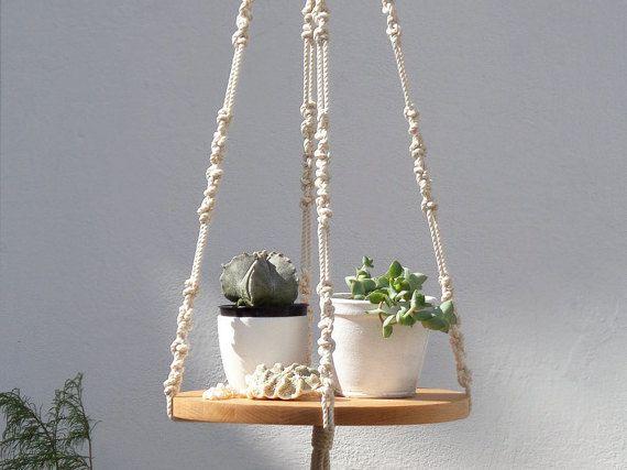 Macrame Plant Hanger Hanging Planter Plant Hanger Macrame Shelf