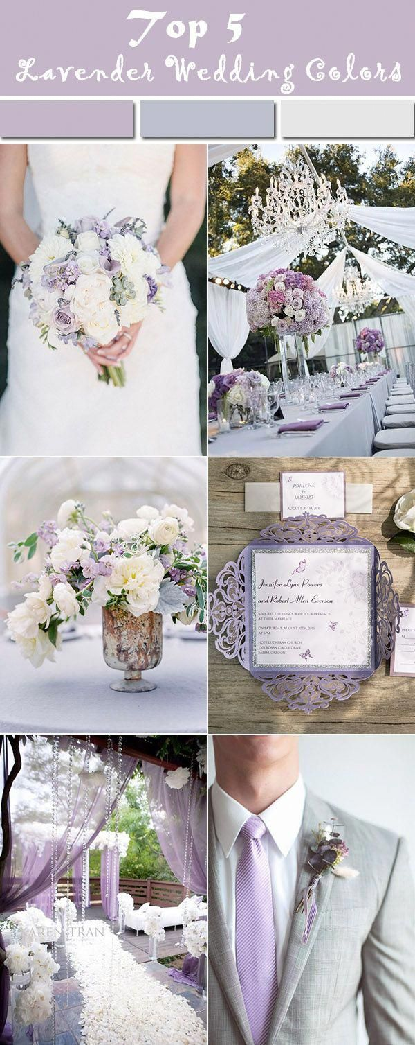 Elegant Lavender Pearl White And Grey Wedding Party Ideas