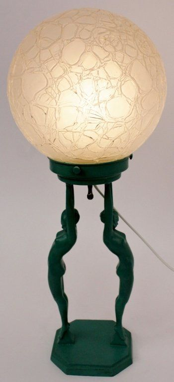 Art Nouveau Lady Lamp | eBay