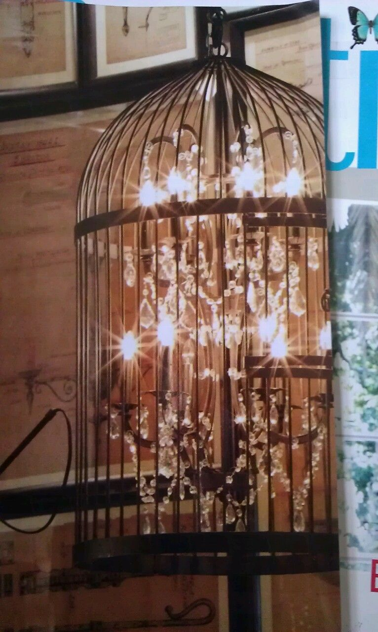 Bird Cage Chandelier With Images Bird Cage Decor Diy