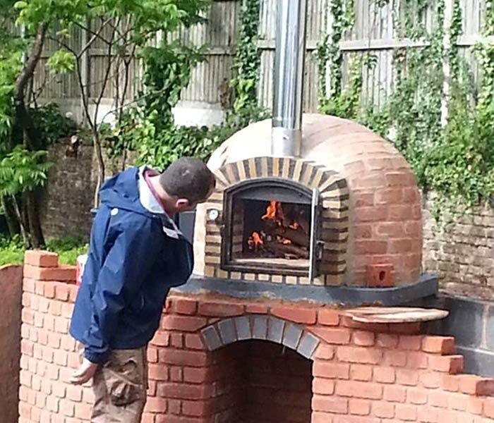 Four a bois rustique pour jardin extérieur et intérieur Four à