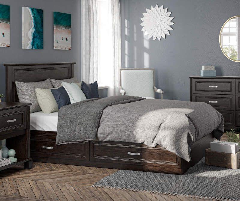 Ameriwood Andover Oak Espresso Nightstand Big Lots Espresso Bedroom Furniture Bedroom Collection Bedroom Collections Furniture
