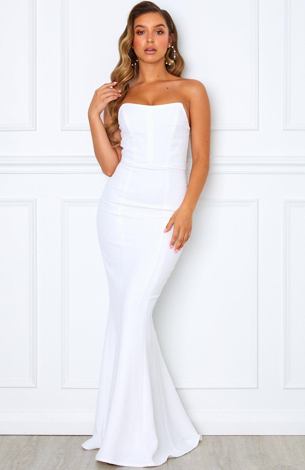 Sophia Maxi Dress White White Fox Boutique Usa White Prom Dress Long White Prom Dress White Strapless Maxi Dress [ 1600 x 1038 Pixel ]
