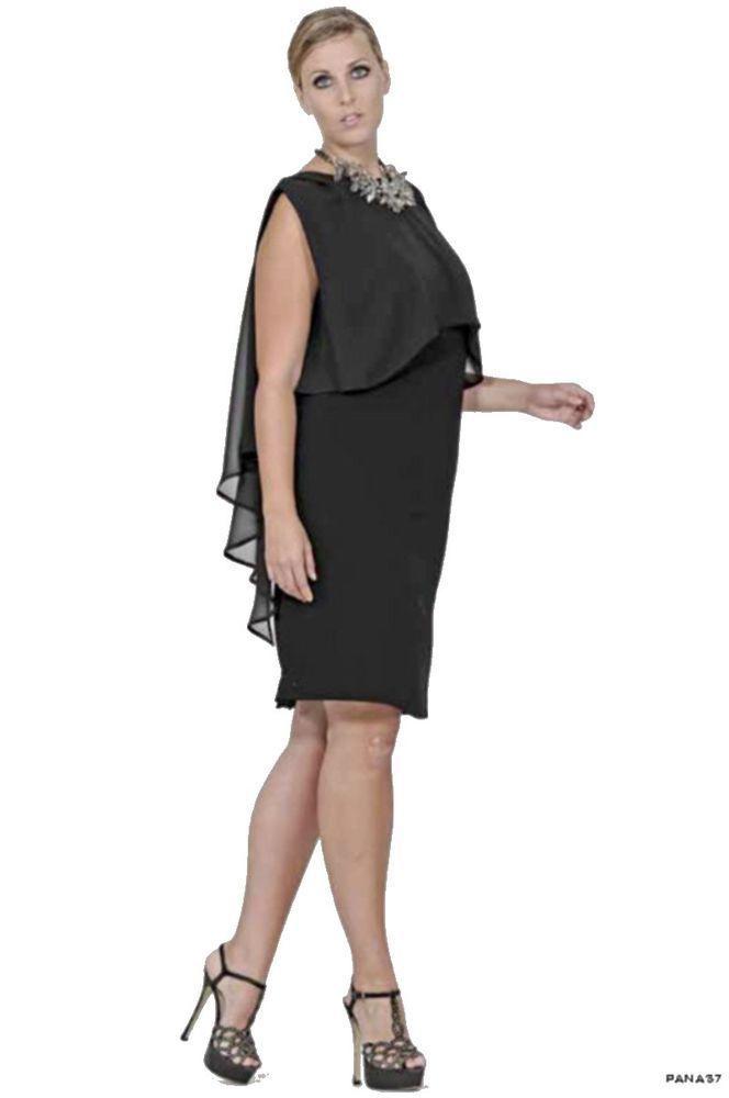 e75627101322 abito donna tubino vestiti sophia curvy taglie forti comode 58 60 62 ...