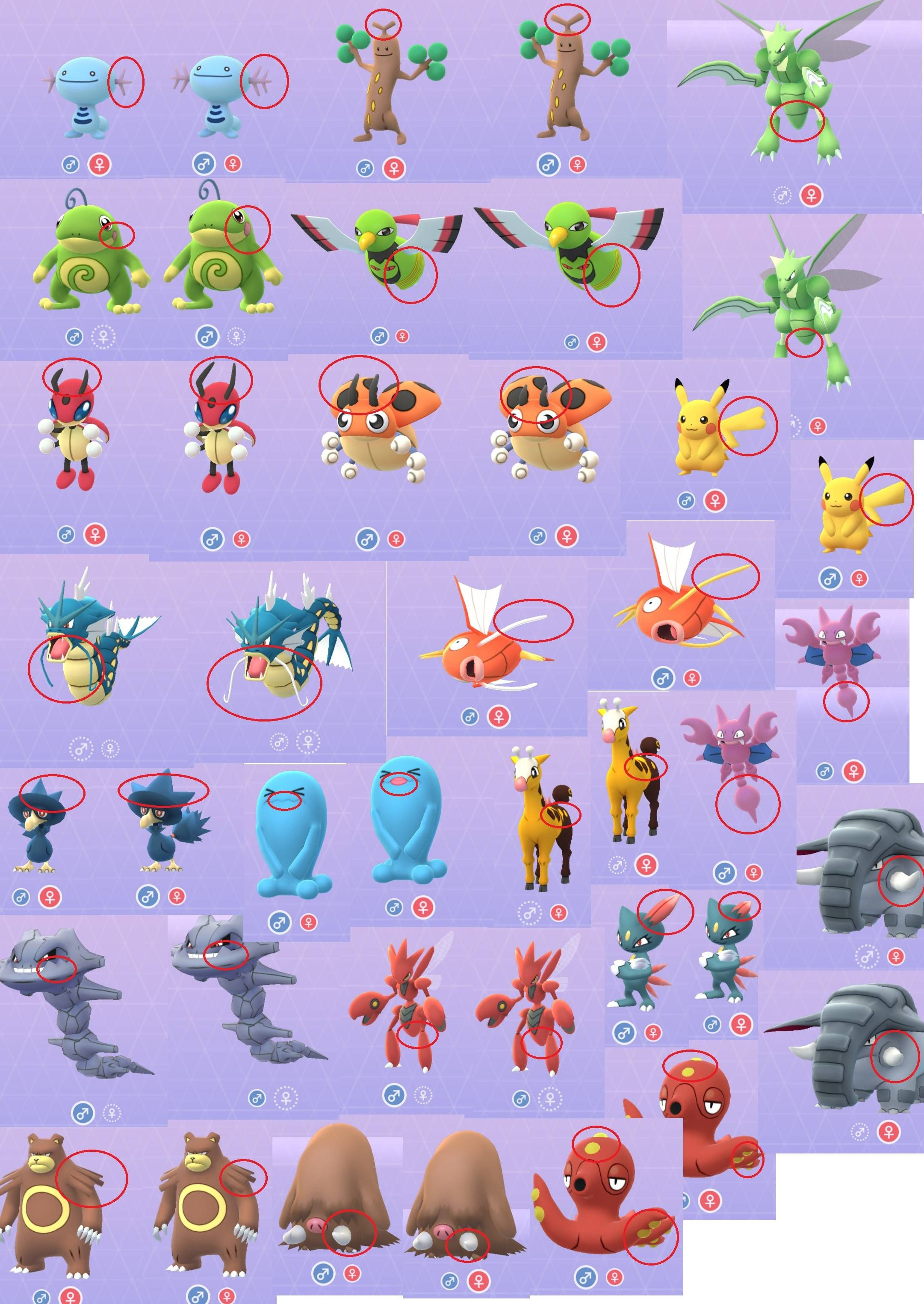 Meta Differences Between Male And Female  Pokemon -8137