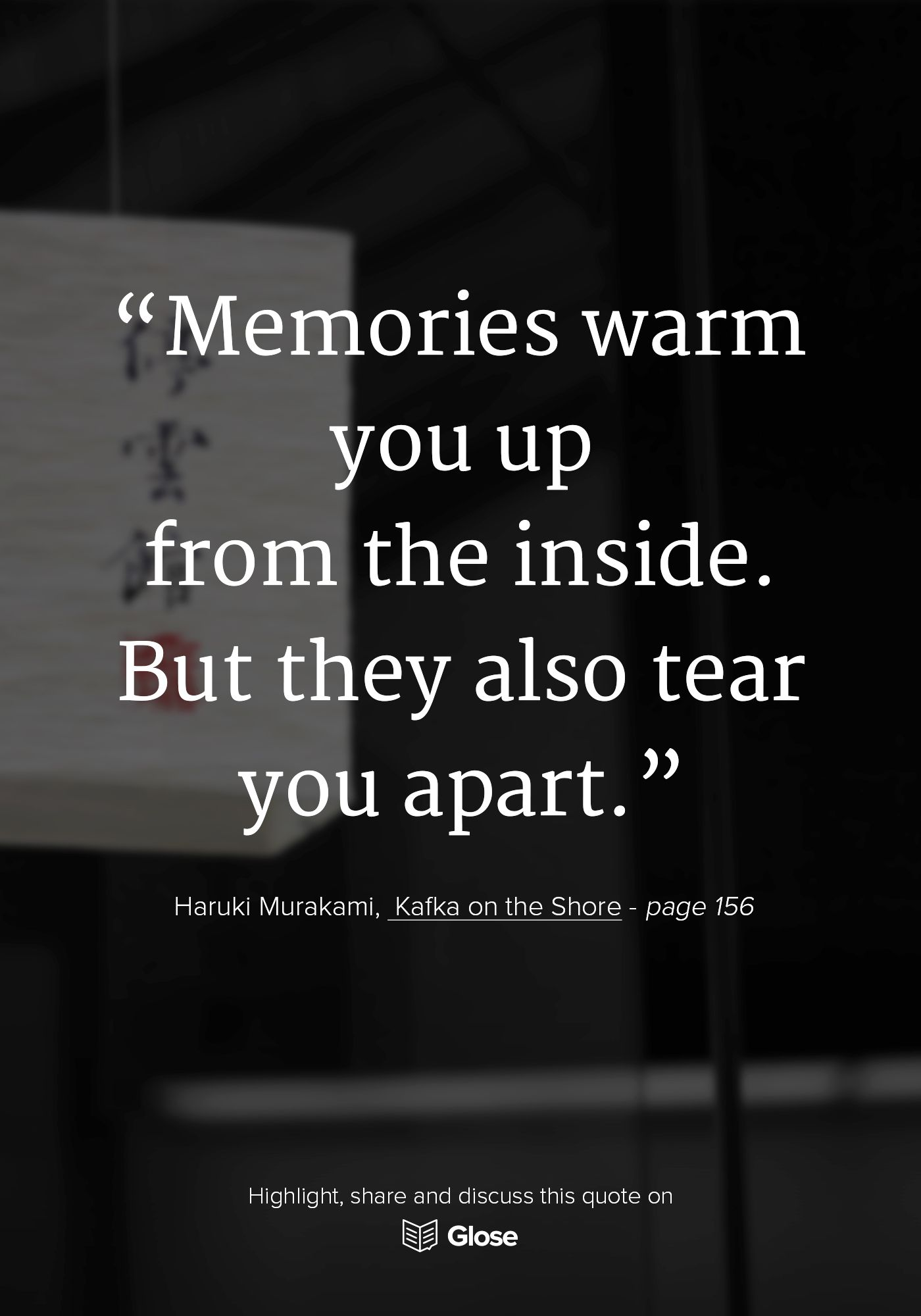 Haruki Murakami Kafka On The Shore Highlight Share And Discuss