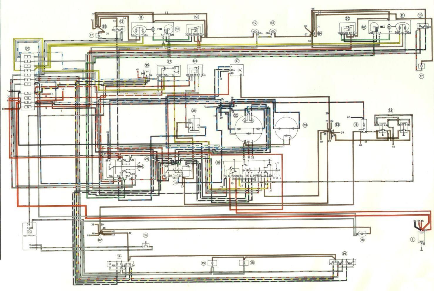 Electrical Diagram 73 Porsche 914 part 1 | Porsche 914