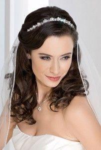 peinados semirecogidos para novias con velo - Peinados De Novia Con Velo