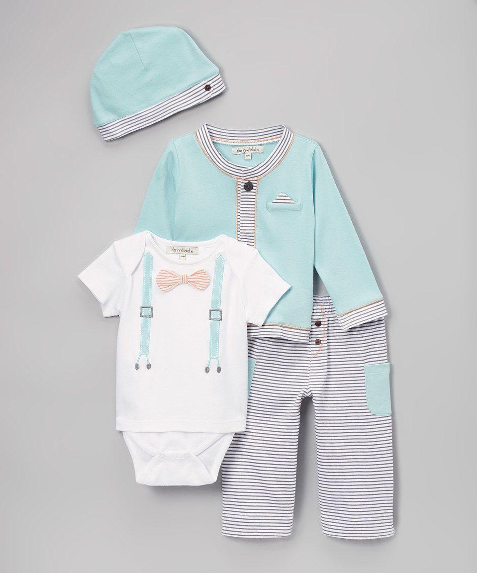 Loving this Harry & Violet Blue Suspender Bodysuit Set - Infant on #zulily! #zulilyfinds
