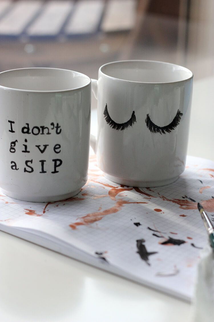 DIY Craft: Hand-Painted Mugs | we must be dreamers #paintedmugs