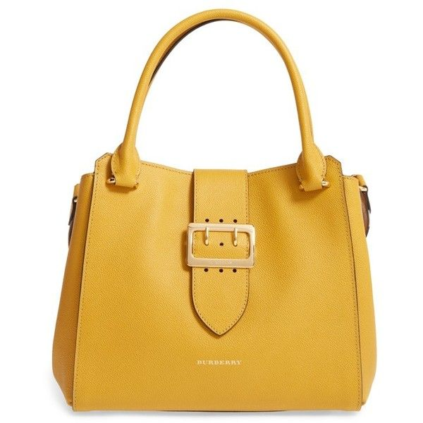 5e6c350825 Women's Burberry Medium Calfskin Leather Tote (2,325 CAD) ❤ liked on Polyvore  featuring bags, handbags, tote bags, bright straw, oversized tote, ...
