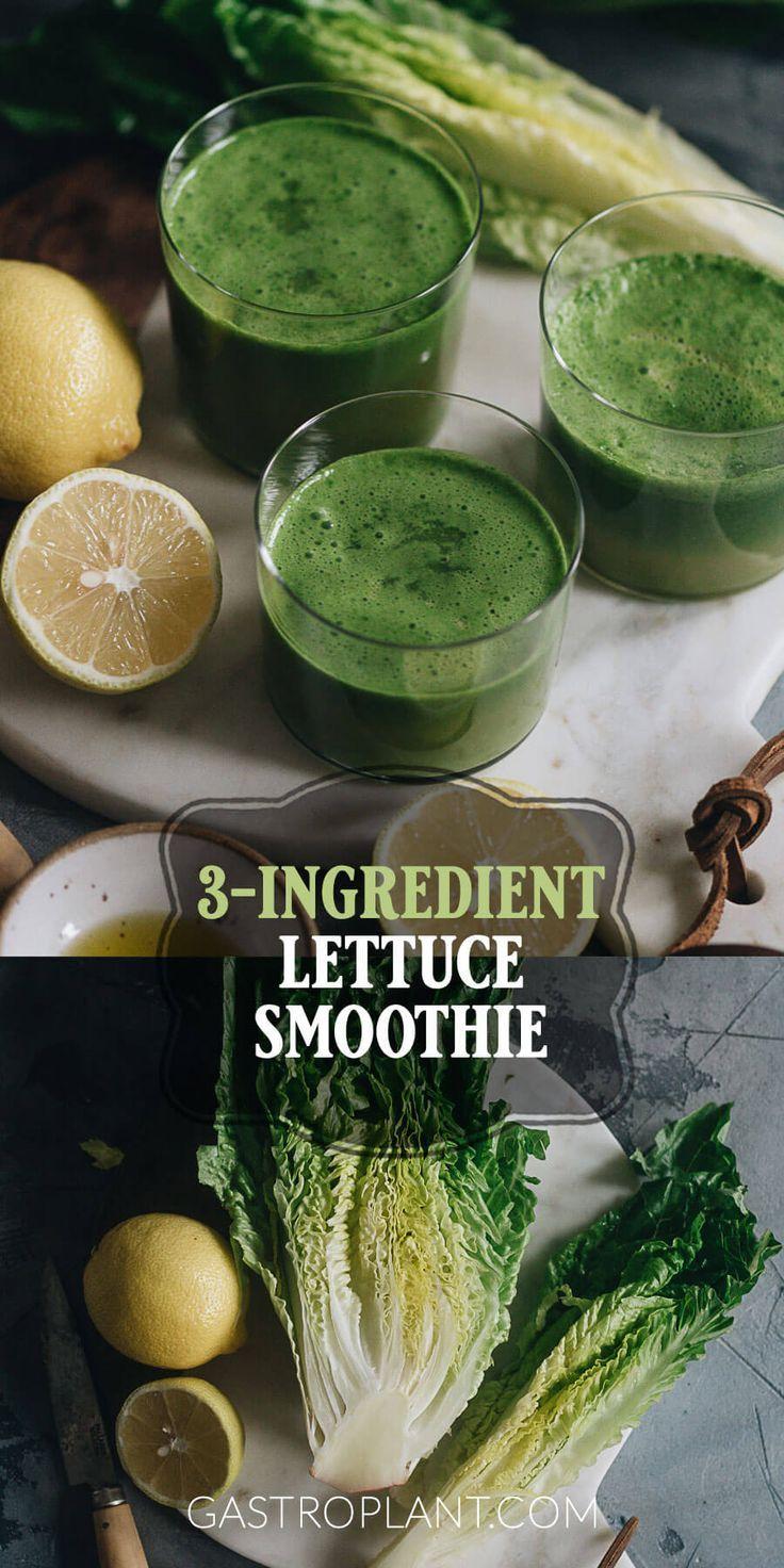 3-Ingredient Lettuce Smoothie | Recipe in 2020 | Green ...