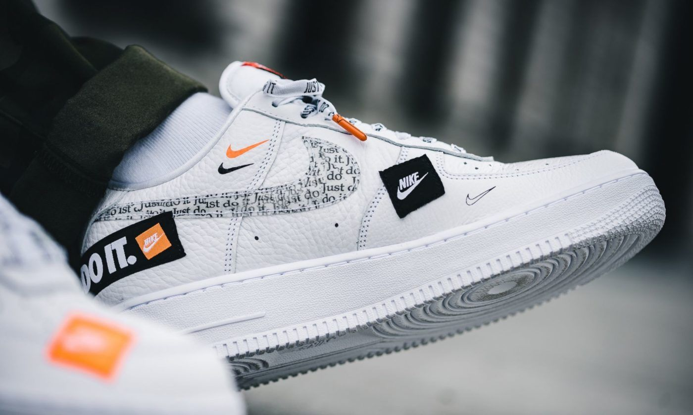 Nike Air Force 1 Low Just Do It White Custom Nike Shoes