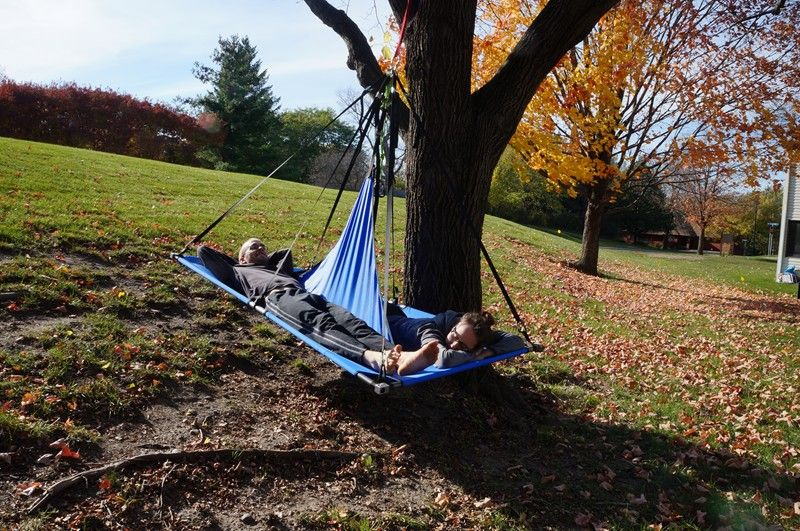 finished my two person tree camping comfort of a hammock roomy as a tent