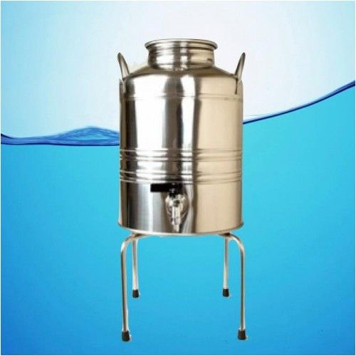 Superfustinox Stainless Steel Water Dispenser Fusti 10 Liter 2 64 Gal With Stand Antique Milk Can Water Dispenser Making Water