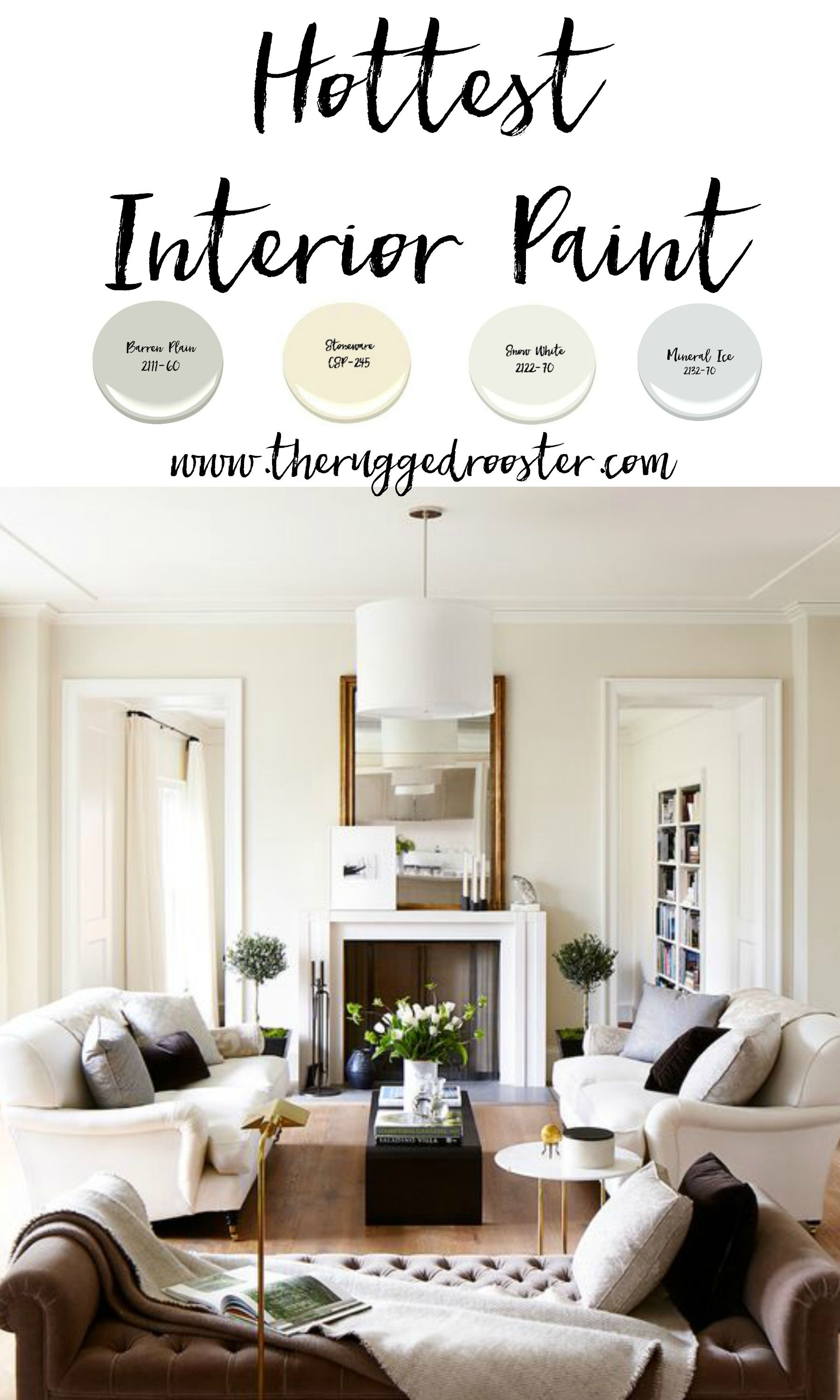Exceptionnel Hottest Interior Paint Colors, Where TO Buy And Paint Chips  Www.theruggedrooster.com