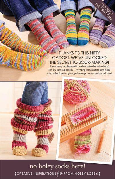 Hobby Lobby Project No Holey Socks Here Sock Making Gloves