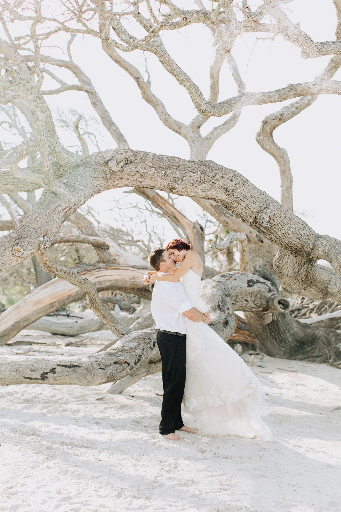 Romantic Driftwood Beach Wedding Photos Beach Wedding Photos Driftwood Wedding Tropical Beach Wedding