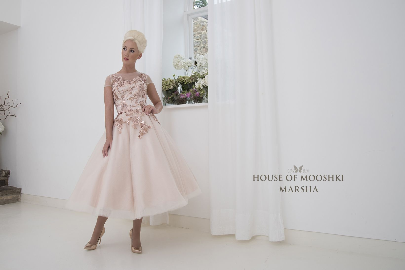 Marsha - Beautiful sequin embellished lace and tulle wedding dress ...