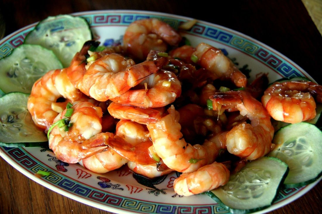 Spicy garlic Prawns, Chinese recipe