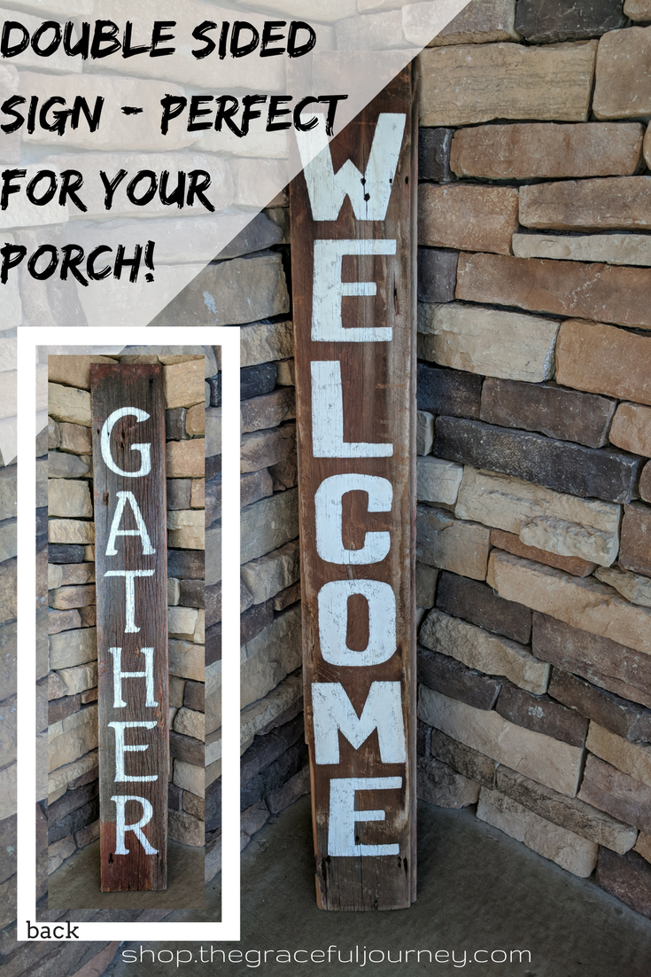 Double Sided Home Decor Barn Board Wood Wood Sign Barn Board Sign Ideas Sign Ideas Craft Diy Signs Porch Signs Dec Porch Signs Barn Board Wood Signs