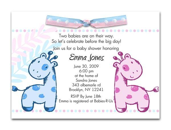 baby on safari giraffe twins baby shower invitations twins