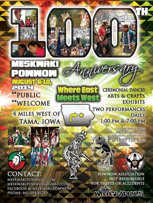 Welcome to the 100th  Annual Meskwaki Powwow