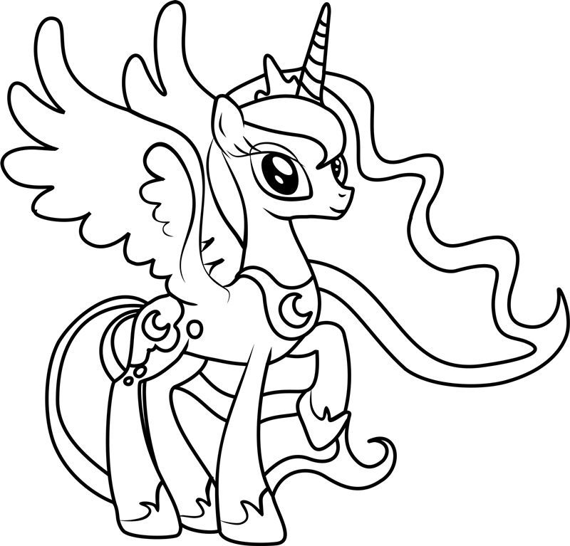 Princess Luna Coloring Pages Best Coloring Pages For Kids My Little Pony Baby Coloring Pages My Little Pony Coloring