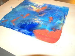 Carta encausto Fanno le Tecniche di stampa da tavolo RISCALDATO, vetro, Carta per Stampa su  ------monotipo------------