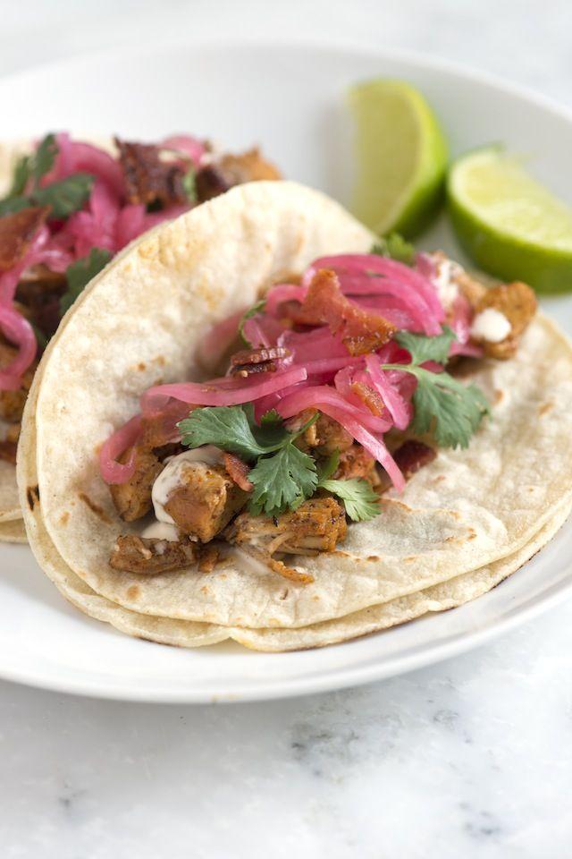 Easy Bacon Chicken Tacos Recipe #chickentacorecipes